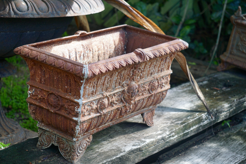 Ornate Cast Iron Planter