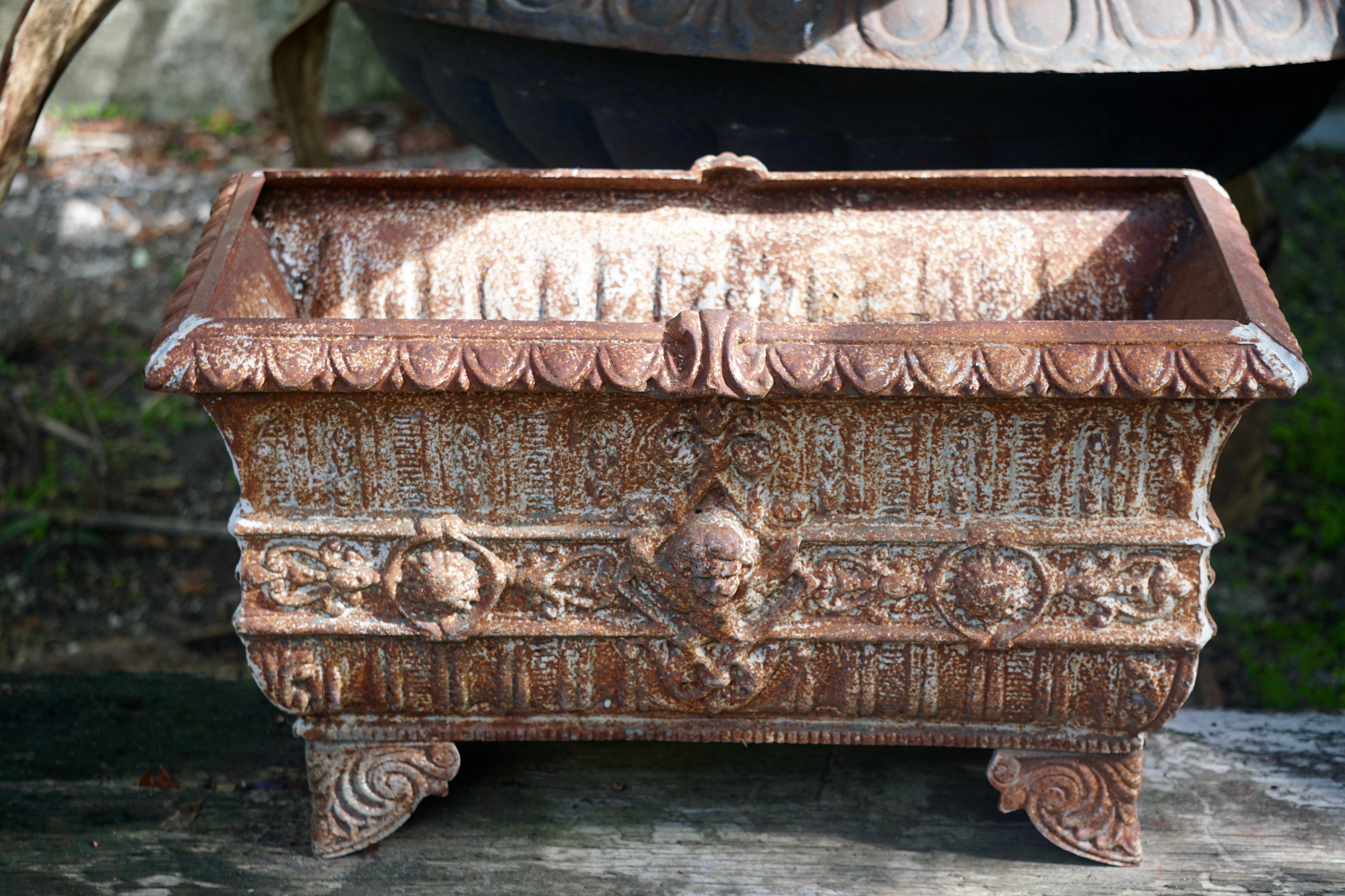 Ornate Cast Iron Planter