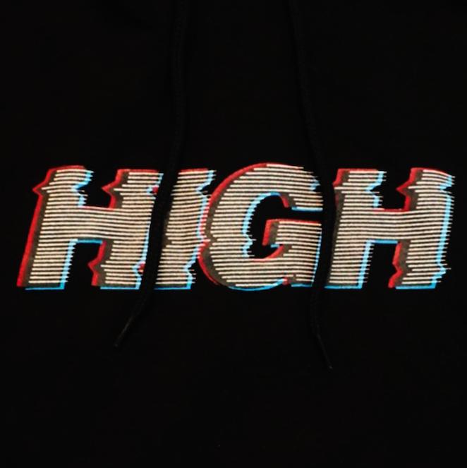 Black High Hoodie