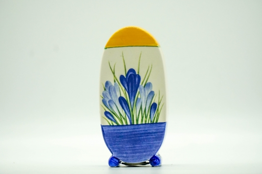 Wedgwood Clarice Cliff Collection Bonjour Shape Blue Crocus Sugar Shaker